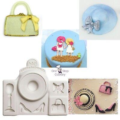 Katy Sue Designer Bags Decoration Cake Crafting Silicon Mould Sugarcraft Handbag
