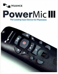 Tested Nuance PowerMic III Dictation Microphone Dragon nine foot cable