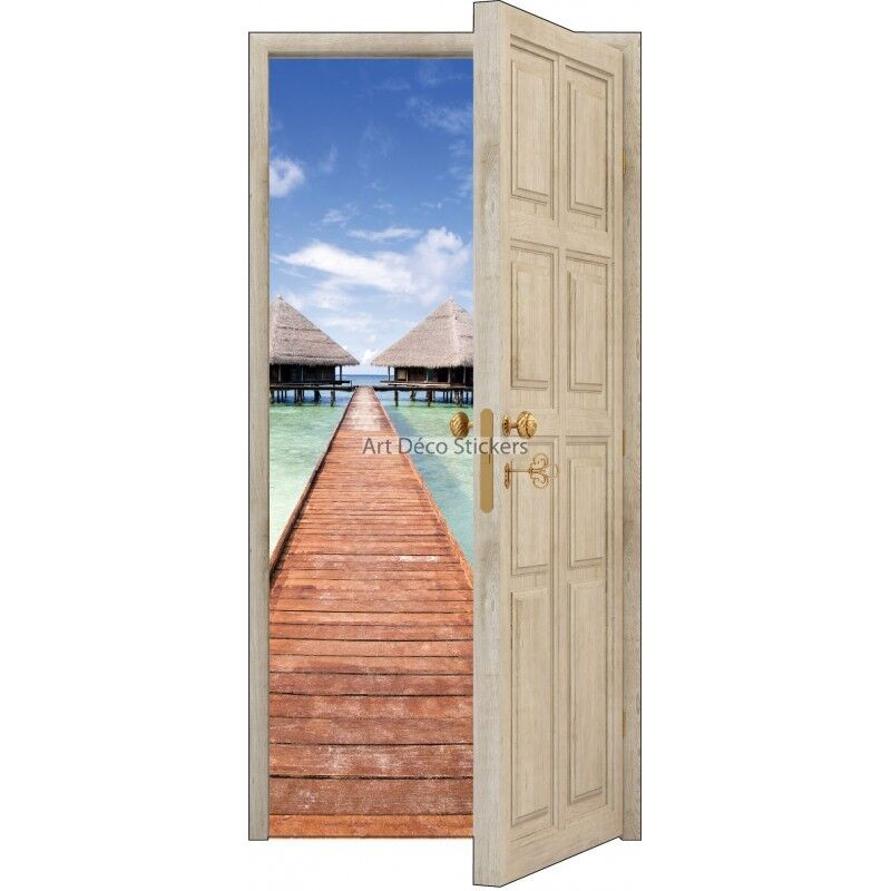 Adhesivo Puerta Trompa Ojo los Trópicos 88x200cm Ref 843 843