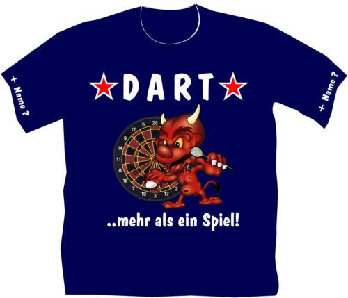 Dartshirt Devils Dart T-Shirt Teufel Flights Dartclub Dartsport Darthemd 30