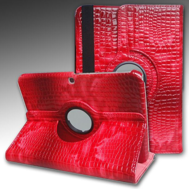 """NON SCRATCHING ALLIGATOR Case Cover Stand Samsung Galaxy Tab3 10.1"""" GT-P5210 RED"""