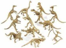 Lot (12) NEW Dinosaur Figure Skeletons Fossils Bones Jurassic Park Play Toy Set