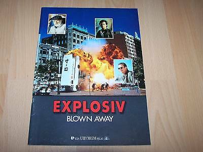 Diplomatisch Explosiv Presseheft ´94 Blown Away Jeff Bridges