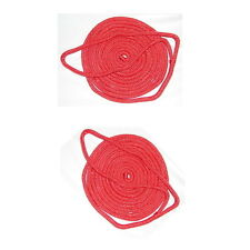 "2 Seachoice Fender Bumper Double Braided Nylon Line Boat 3//8/"" x 6/'  RED 40941"