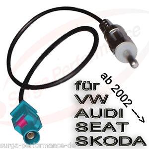 Autoradio-Fakra-Antennen-Adapter-auf-ISO-DIN-fuer-VW-AUDI-SEAT-SKODA-CHRYSLER