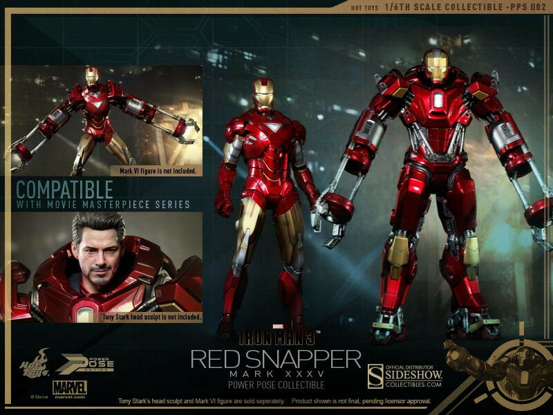 Hot Toys Iron Iron Iron Man 3 MARK XXXV (35)  ROT SNAPPER 12