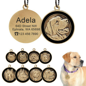 3D-Personalised-Dog-Cat-Tags-w-Breeds-Custom-Name-ID-Collar-Tag-Engraved-Free