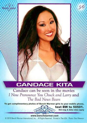 Candace Kita #56 2010 Bench Warmer Signature