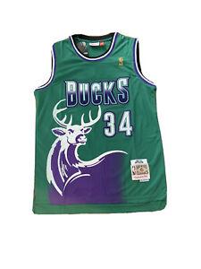 Detalhes sobre Nova com etiquetas, camisa masculina Ray Allen Milwaukee Bucks Throwback Jersey- mostrar título no original