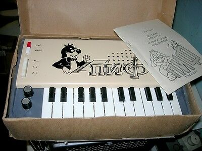 PIF soviet synthesizer piano toy NOS NIB ussr