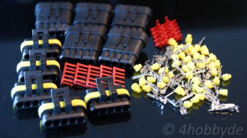 5 pares de enchufe casquillos 5 pines protegido agua con junta de silicona glp para coche