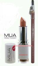 MUA Professional Makeup Academy Matte Totally Nude Lipstick & Lip Liner Kit/Set