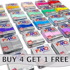 FIMO-Effect-Polymer-Oven-Modelling-Clay-36-Colours-57g-Buy-4-Get-1-Free