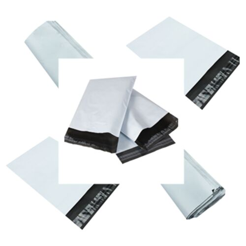 NEW WHITE Plastic Strong Packaging Postal Polythene Mailing Bag 10-Sizes 2016