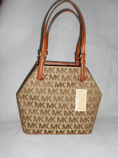 NUOVO Michael Kors Monogram Donna Jet Set Prendi Handbag, Brown Rrp £ 220