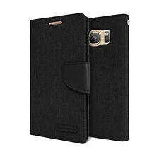 GOOSPERY® Authorized Slim Canvas Flip Wallet Case cover for iPhone 7/Galaxy/LG