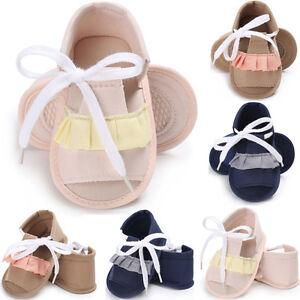 Infant Newborn Baby Girl Sandals Soft Summer Crib Shoes Anti-slip ...