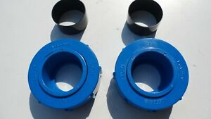 PHYDRO PRO HEAT PUMP LESSO PVC U 50 mm UNION NUTS AND PIPE SLIPS BLUE pair