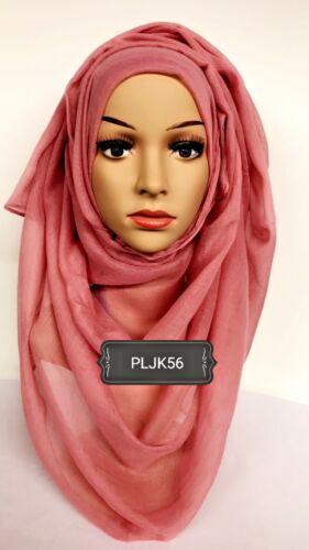 Hijab print plain head scarf maxi chiffon jersey crimp cotton viscose PLJK56