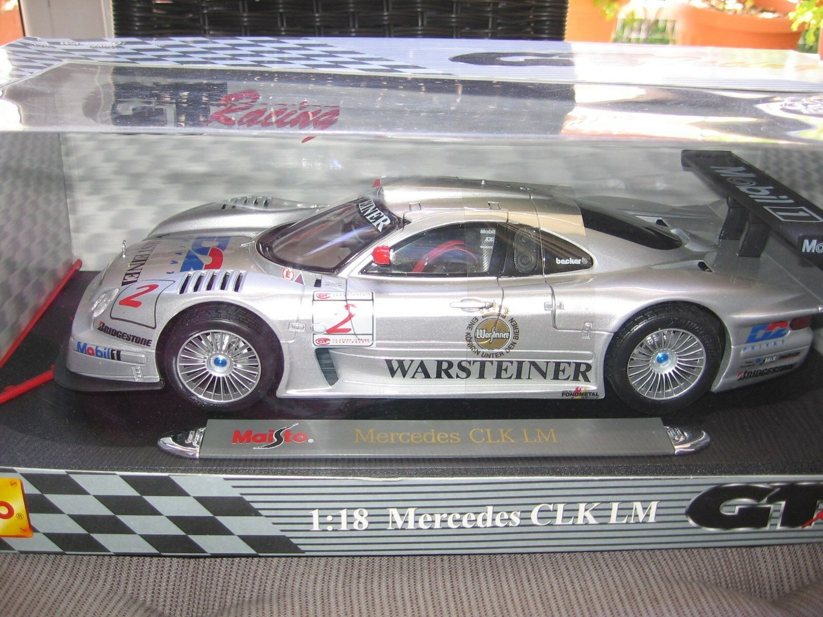 MERCEDES-BENZ CLK LM Maisto 1 18 GT-RACING EDITION NUOVO MINT