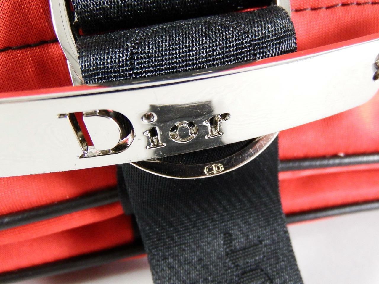 Christian Dior Red Jersey Hardcore Shoulder Bag w… - image 5