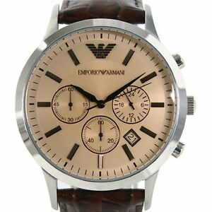 arriving sale factory outlets Slightly Emporio Armani Mens Wrist Watch Chronograph AR2433