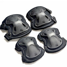 Unisex Sports Knee Elbow Pad Protector Gear Sports Airsoft Combat Skate 4Pcs