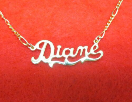 14KT GOLD EP 2MM FIGARO ANKLET OR NECKLACE WITH JEAN NAME CHARM PENDANT