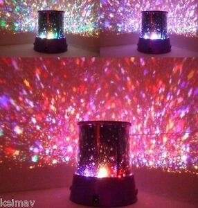 Dreamlike Star Beauty LED Projector dim Night light lamp constellation