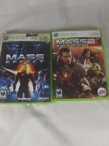 Mass Effect 1 and 2 Microsoft Xbox 360 Lot of 2 Games 3 Discs Complete