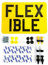 "7"" x 5"" Flexible Motorbike Number Plate with Fixing Kit - Motorcycle Enduro Bike"