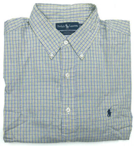 Mens-Ralph-Lauren-Shirt-NEW-Yarmouth-Fit-L-S-Plaid-amp-Check-Yellow-Size-17-Large