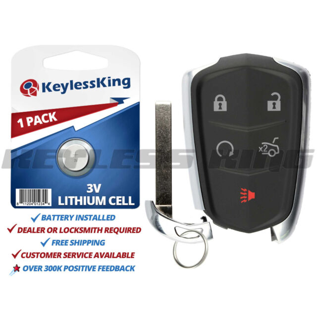Keyless Entry Remote Car Key Fob For Cadillac Ats Cts Srx Xts