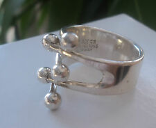 Norwegian Silver Jester Ring - Anna Greta Eker of Plus Design Norway  Size M / N