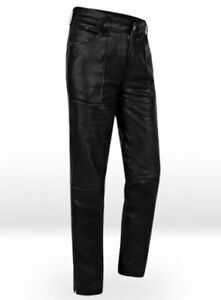 Jim-Morrison-Jeans-Pants-trousers-premium-quality-Cow-Plain-Leather