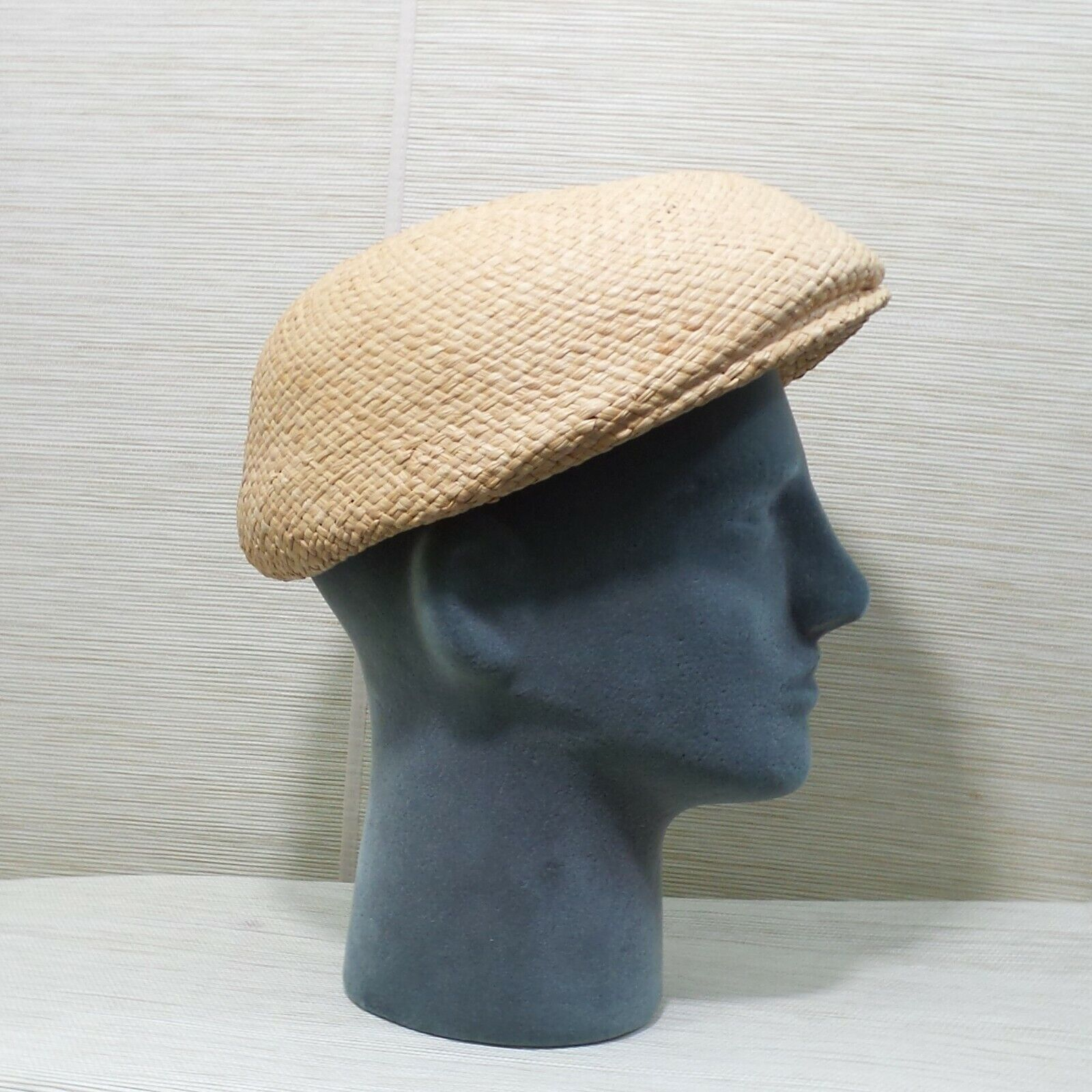 Straw Cabbie Hat Cap Union Made Natural Newsboy M… - image 4