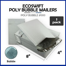 1 000 4x8 Ecoswift Brand Poly Bubble Mailers Small Padded Envelope 4 X 8