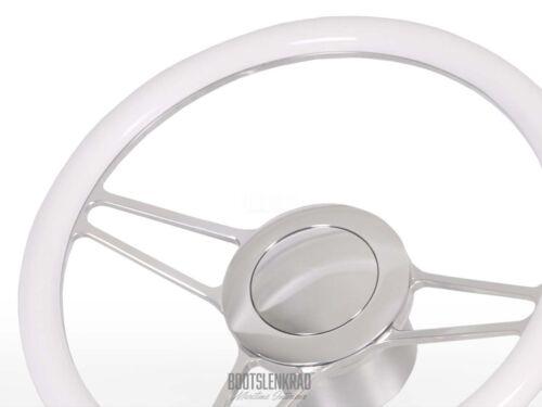 Premium Bootslenkrad Octo weiß für Maxum mit Teleflex Ultraflex Lenkung 50603000