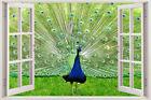 Wall Peacock Decal Art Bird Stickers Sticker Animal Vinyl Home Decor Mural Diy