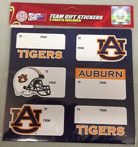 Auburn Tigers Christmas Present Name Labels Team Gift ...