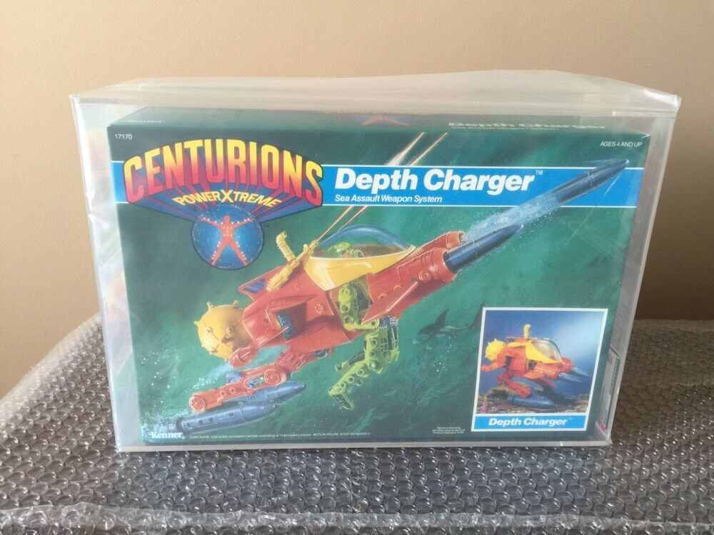 1986 CENTURIONS Power Xtreme  Depth Charger by Kenner MISB Stunning AFA 85 Wow
