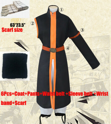 Anime Fairy Tail Etherious Natsu Dragneel Single Sleeve Cosplay Costume Full Set