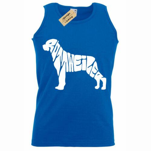 Rottweiler Mens gift dog lovers Tank Top Vest