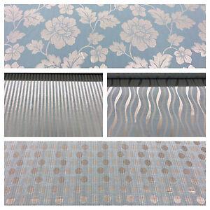 Soft-Duckegg-Blue-Turquoise-Damask-Stripe-Damask-Curtain-Decor-Fabric-Upholstery