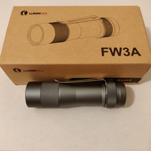 Lumintop FW3A, 3-Cree XPL-HI LED Flashlight, 2800 Lumens, Neutral White, Grey