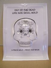 XL Extra Large 2-Sided Sugar Skull Mold Chocolate/Craft Mould - Day of the Dead
