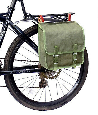 1 x Bicycle Rear Rack Seat Bag Pannier Single Pack Cycling Bike Cycle Army Green