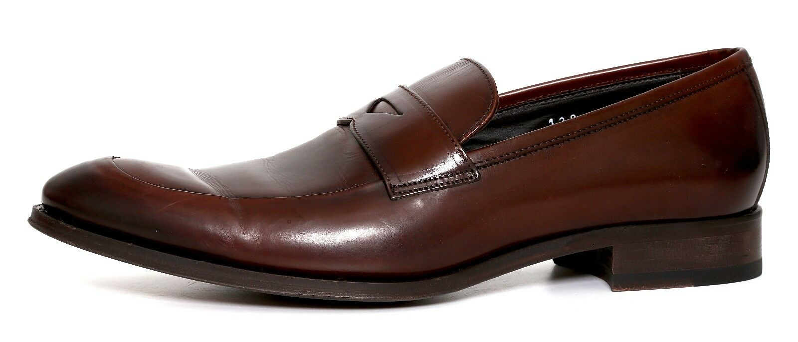 To Boot New York Francis Penny Pelle Loafers Brown Uomo Size 9 M 7485
