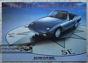 RELIANT-SCIMITAR-SS1-Car-Sales-Brochure-1986-1300-amp-1600