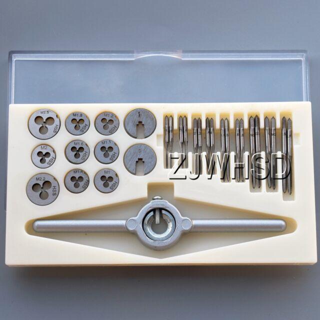 HSS Tap Die Wrench Set M1 M1.1 M1.2 M1.4 M1.6 M1.8 M2 M2.2 M2.5 Kit MadeIn Japan